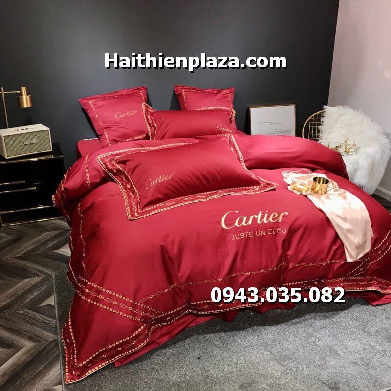 Chăn ga gối thương hiệu Cartier
