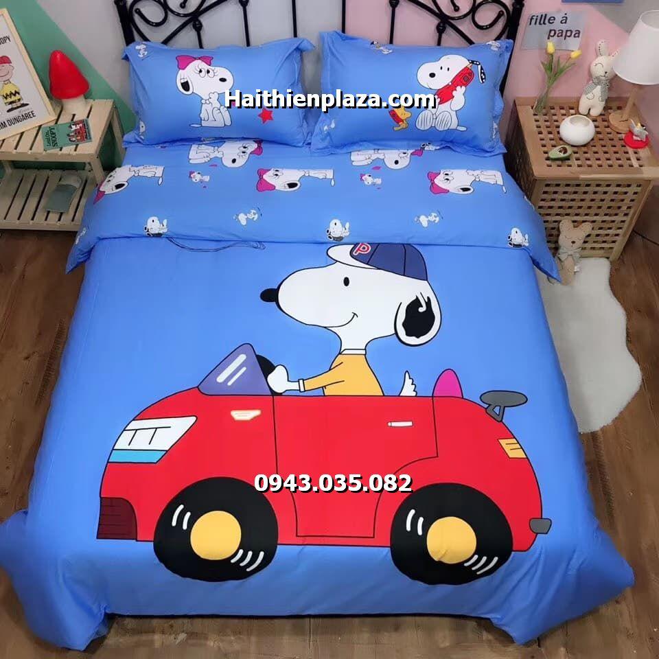 Chăn ga trẻ em hình Snoopy